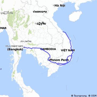 Thailand-Cambodia-Vietnam