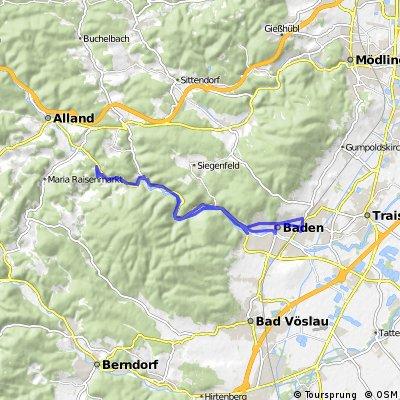 Long bike tour through Baden