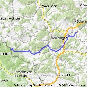 Hammeranstiege: 5 Berge (Teil 1: bis Wüstung Schmerbach)
