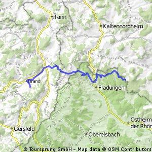 Hammeranstiege: 5 Berge (Teil 2: bis Reulbach über Schwedenschanze bei Frankenheim)