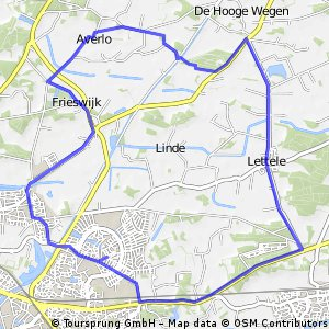 Route Frieswijk Averlo Lettele