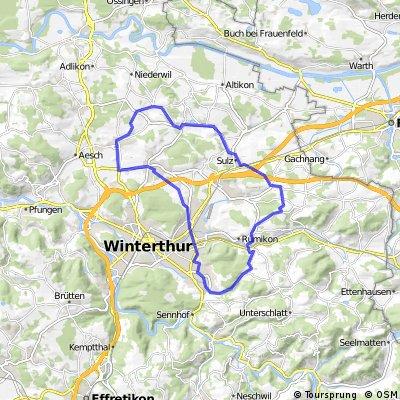 Seen-Ricketwil-Elsau-Bertschikon-Sulz-Dinhard-Dägerlen-Hettlingen-Seuzach-Seen