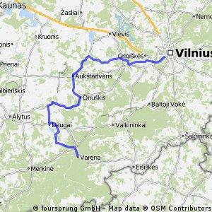 Vilnius - Varėna su mažiau eismo (Eurovelo 11)