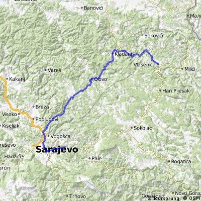 Vlasenica - Kladanj - Olovo - Semizovac - Sarajevo