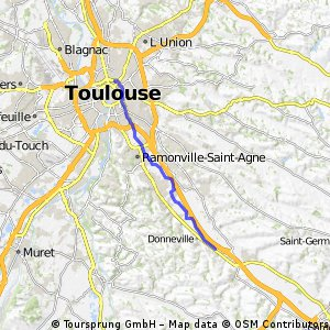 ride from Toulouse to Montgiscard