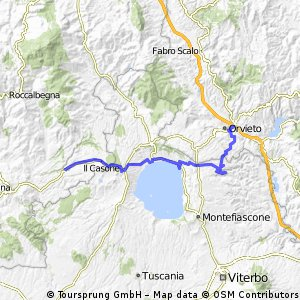 Pitigliano - Latera - Lago di Bolsena - Bolsena - Civita di Bagnoregio - Orvieto