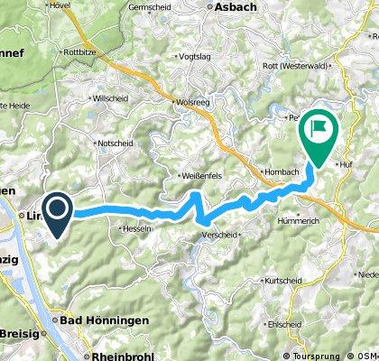 Radrunde von Linz am Rhein nach Niedersteinebach