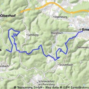Großer Beerberg-Schneekopf-Kickelhahn-Spartakistenweg ab ILM zum Rennsteig über Auerhahn (Teil 2)