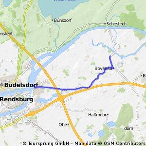 Kurze Ausfahrt von Bovenau nach Schacht-Audorf