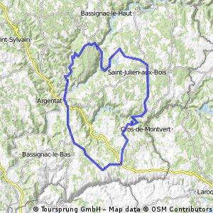 Rivière-Servières-Tours de Merle-La Chapelle-