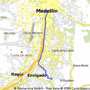 Cycling routes and bike maps in and around Medelln Bikemap Your