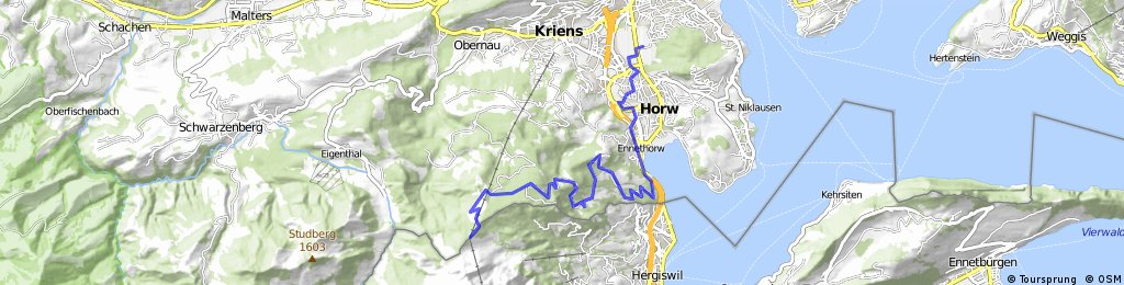 Luzern - Fräkmüntegg - Alpgschwänd