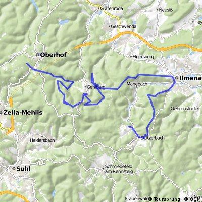 Hammeranstiege am Rennsteig (vsn. 2) Teil 2: Schneekopf-Mönchshof-Kickelhahn bis zum Freibach