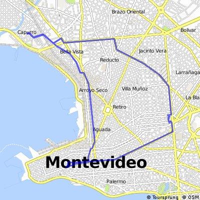 ride through Montevideo