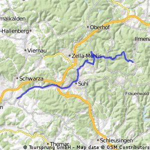 Hammeranstiege am Rennsteig (vsn. 2) Teil 3: Schmücke und Beerberg und dann die Rosenkopfstraße runter nach Suhl und heim