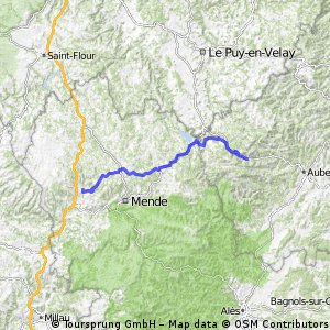 2016 Ride Day 94 - Marvejols to Mayres