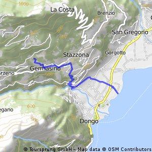 Germasino - Dongo (via mulattiera)