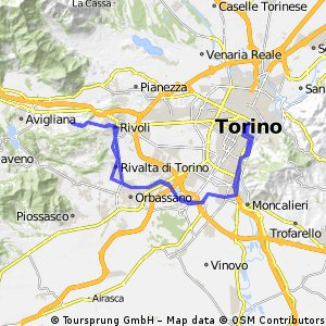 Rosta to Turin
