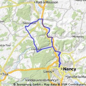 Nancy Liverdun  Dieulouard Custine Nancy