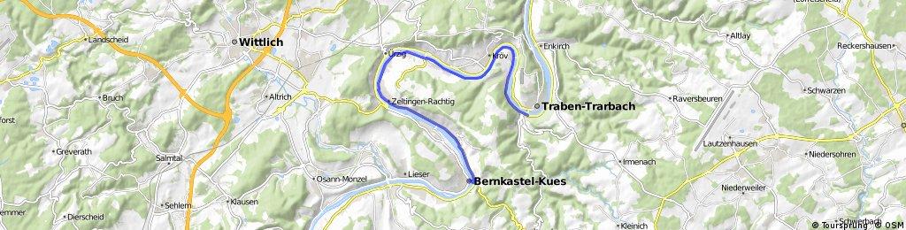 Traben-Trarbach naar Bernkastel Kues