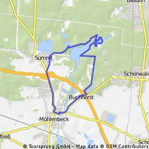 ride through Mühlenbecker Land