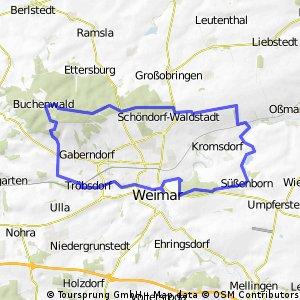 Nördlich von Weimar