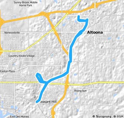 bike tour through Altoona