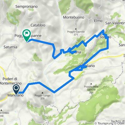 Manciano-Pitigliano-Sorano-Sovana-Poggio Murella