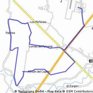 Lengthy bike tour through Mata de Pita