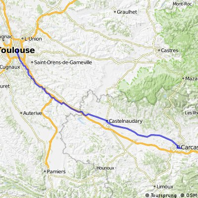 Toulouse - Castelnaudary - Carcassonne