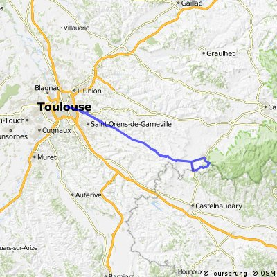 Cycling routes and bike maps in and around Toulouse Bikemap Your