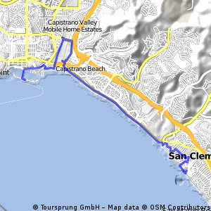 bike tour from San Clemente to Dana Point