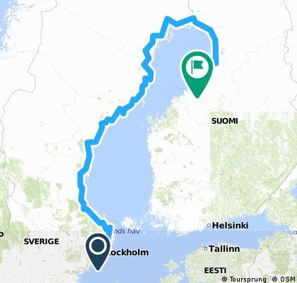 Stockholm nach Pyhäjoki