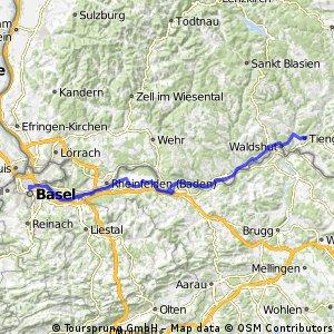 Euro Tandem Tour 2016 4. Etappe Morgens ohne Polizei