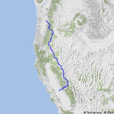 Portland to Yosemite