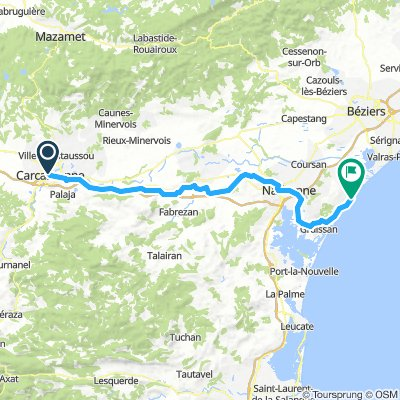 Carcassonne to Narbonne Plage (Last 1/2 day)