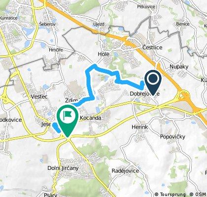 bike tour from Dobřejovice to Jesenice