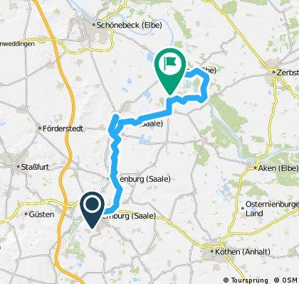 6. Saaleradweg von Bernburg nach Barby über Calbe, 48 km