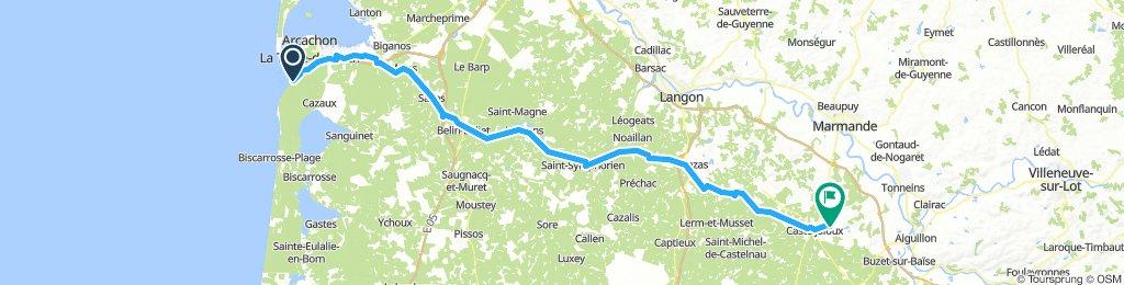 Arachon (Teste-de-Buch) to Casteljaloux