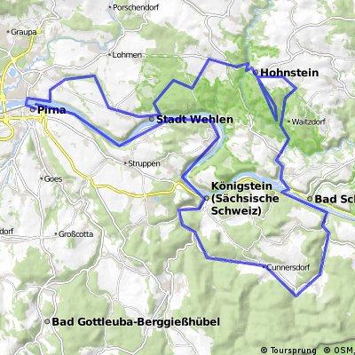 Radroute Hohnstein