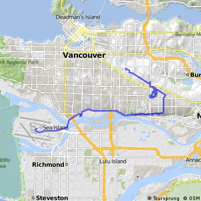 bike tour from Richmond to Vancouver