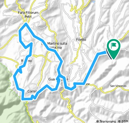Long bike tour through Orsogna