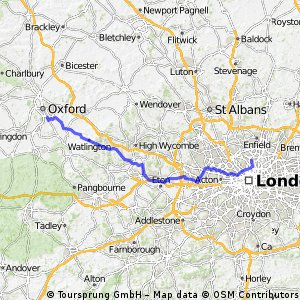 Oxford to Finsbury Park
