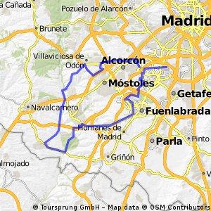 Cycling Routes And Bike Maps In And Around Leganés Bikemap - Leganés map