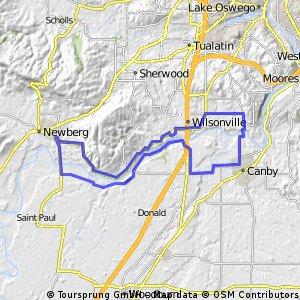 Wilsonville/Champoeg loop