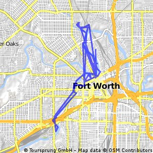 bikeing starting atthe stockyards Fort Worth