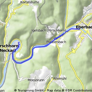 Radrunde durch Hirschhorn (Neckar)