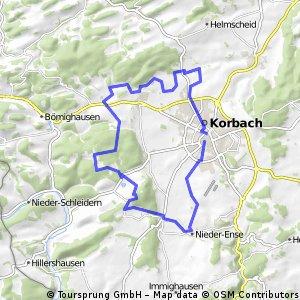 Rund Korbach über Goldhausen