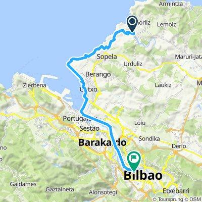 fifth stage plentzia to Bilbao