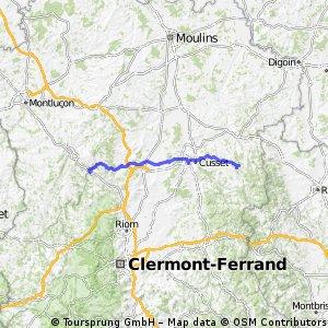 Day 21 : Menat - 03250 Châtel-Montagne via VICHY